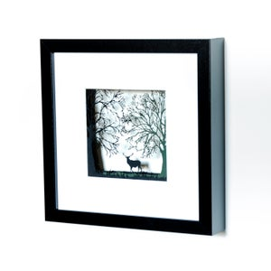 Image of Framed Stag In The Forest, Small