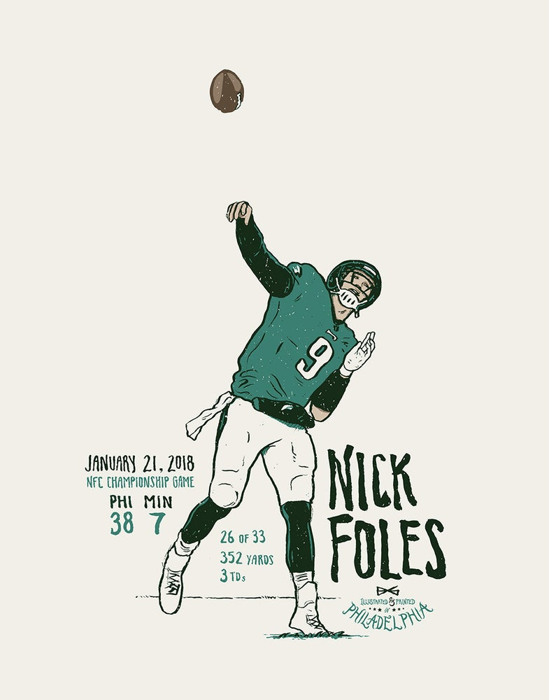 Image of Foles NFC Championship print