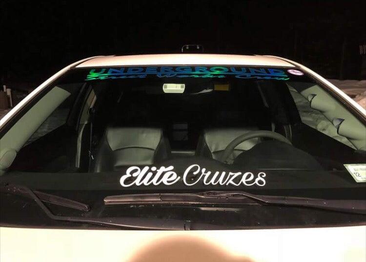 Image of CURSIVE ELITE CRUZES BANNER