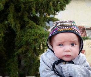 Image of solola bonnet . handwoven