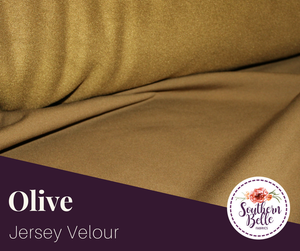 Image of Jersey Velour - Olive