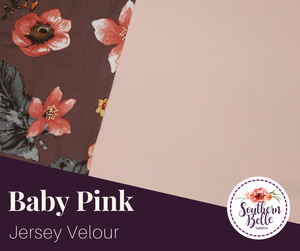 Image of Jersey Velour - Baby Pink
