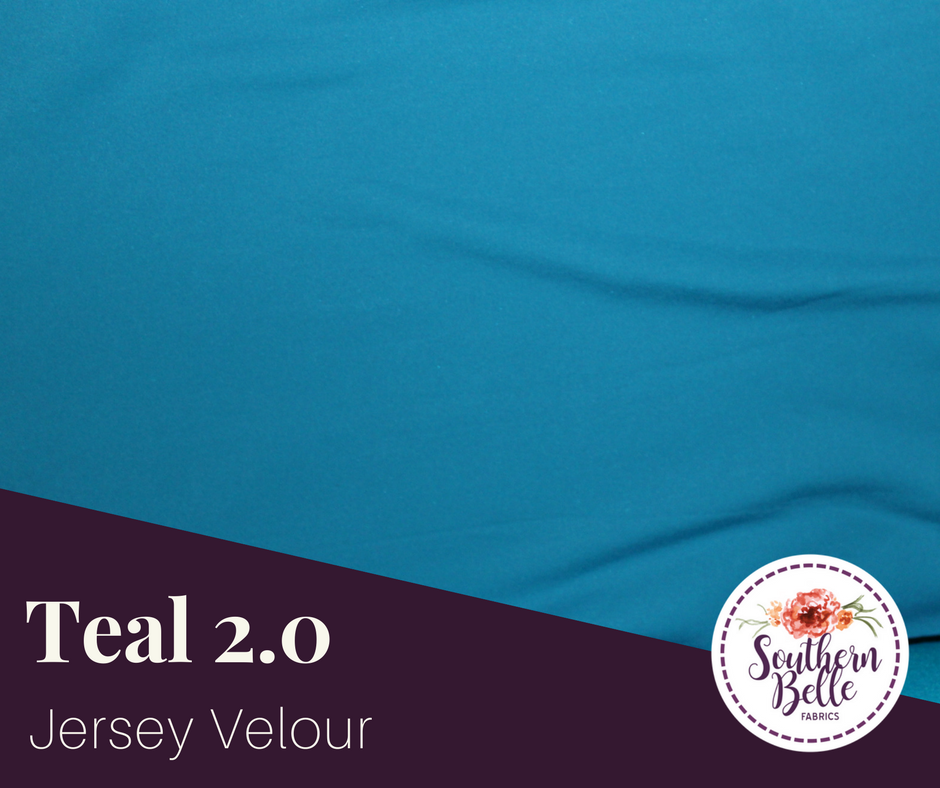 Image of Jersey Velour - Teal 2.0