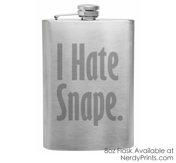 "Image of ""I Hate Snape"" Engraved Flask"
