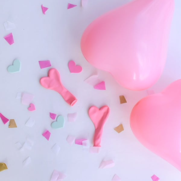 Image of Mini Pink Heart Balloons - 15 pack
