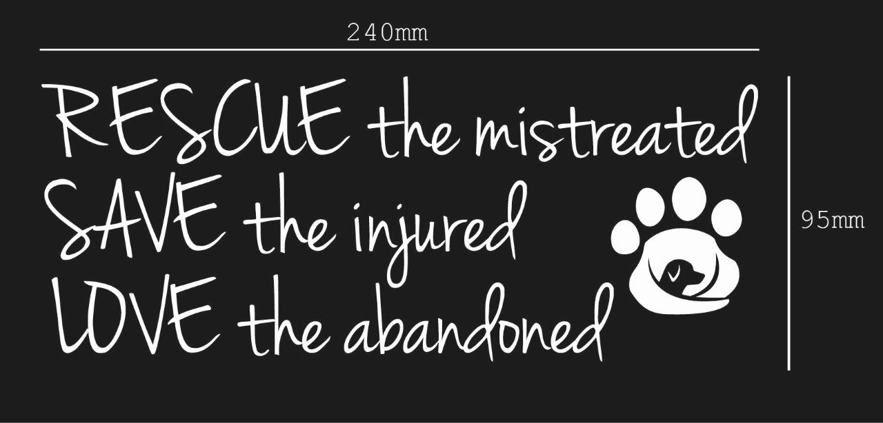 Image of RESCUE the Mistreated..........Sticker/Decal - Supporting GAAR SA INC.