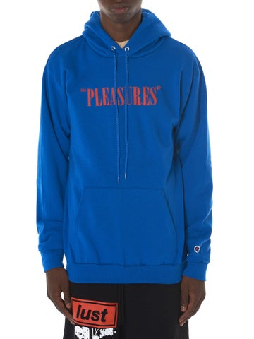 Image of PLEASURES X CHAMPION - SOFT CORE HOODIE