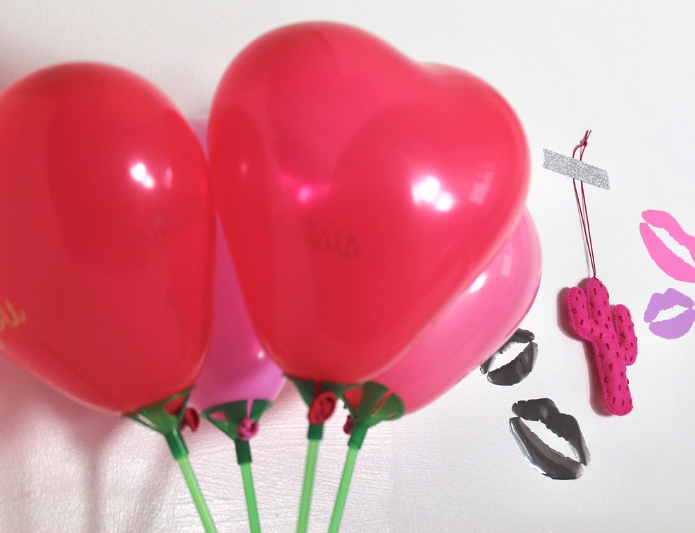 Image of Heart posey balloons