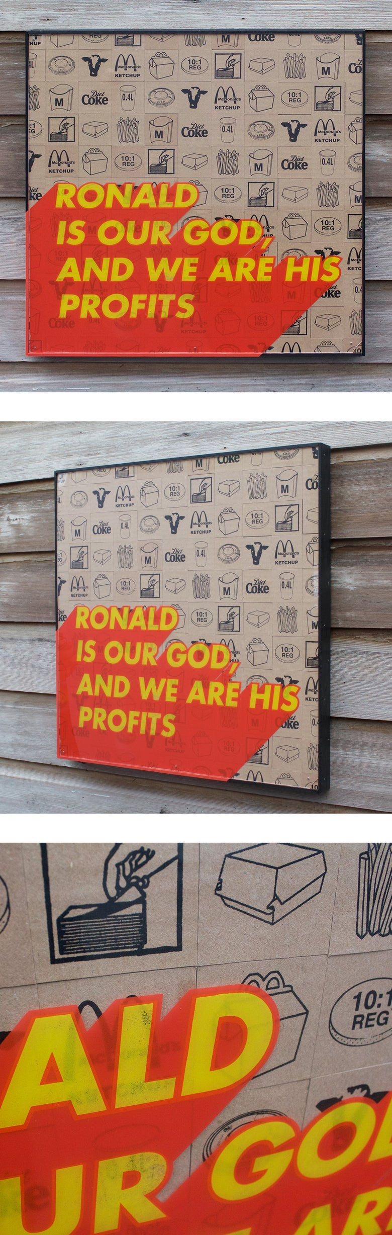 Image of Ronald is our god, and we are his profits