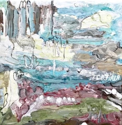 Image of Nuet - akryl painting 30 x 30 cm