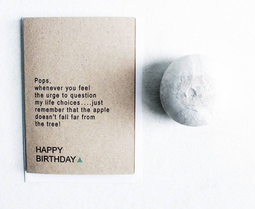 Image of Pops Birthday Card - Kraft Textured Card