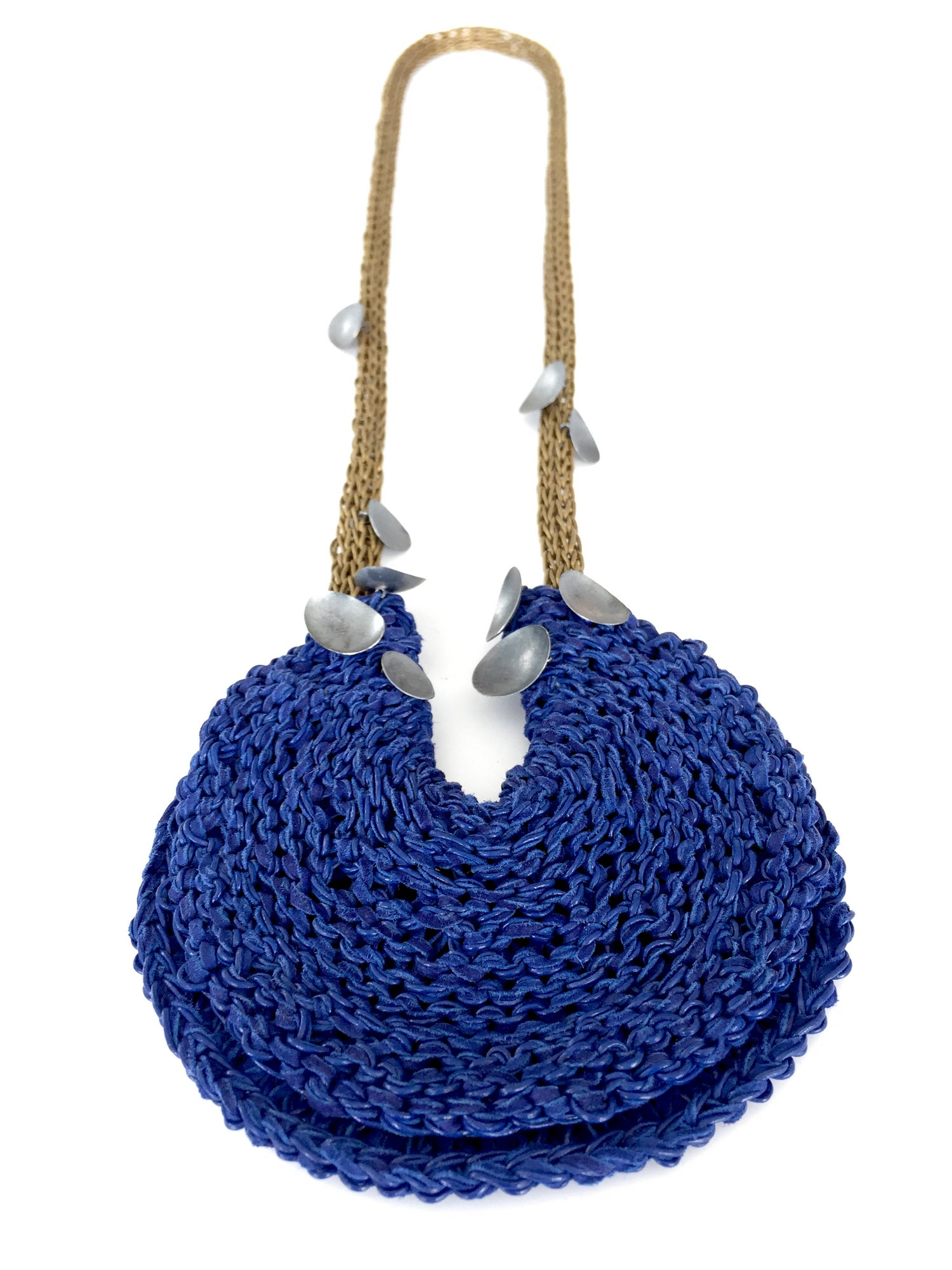 Image of Brooke Marks-Swanson Blue Disc Necklace, 2018