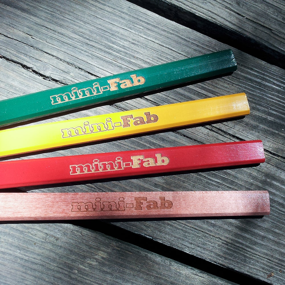 Image of Personalized Wood Carpenter's Pencil - 6 Pack - Woodworker's Pencils - Woodworker Gift