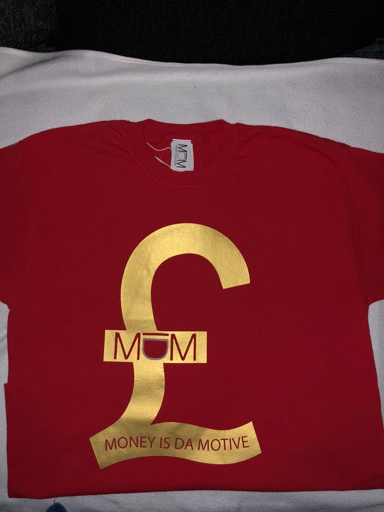Image of MIDM Red/Gold £ Tee