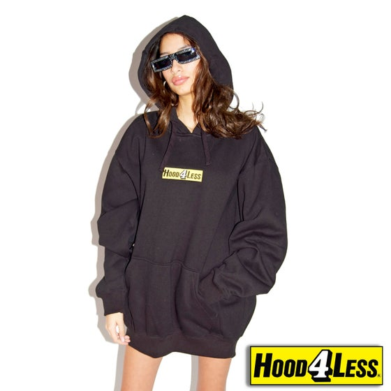 Image of HOOD 4 LESS hoodie black