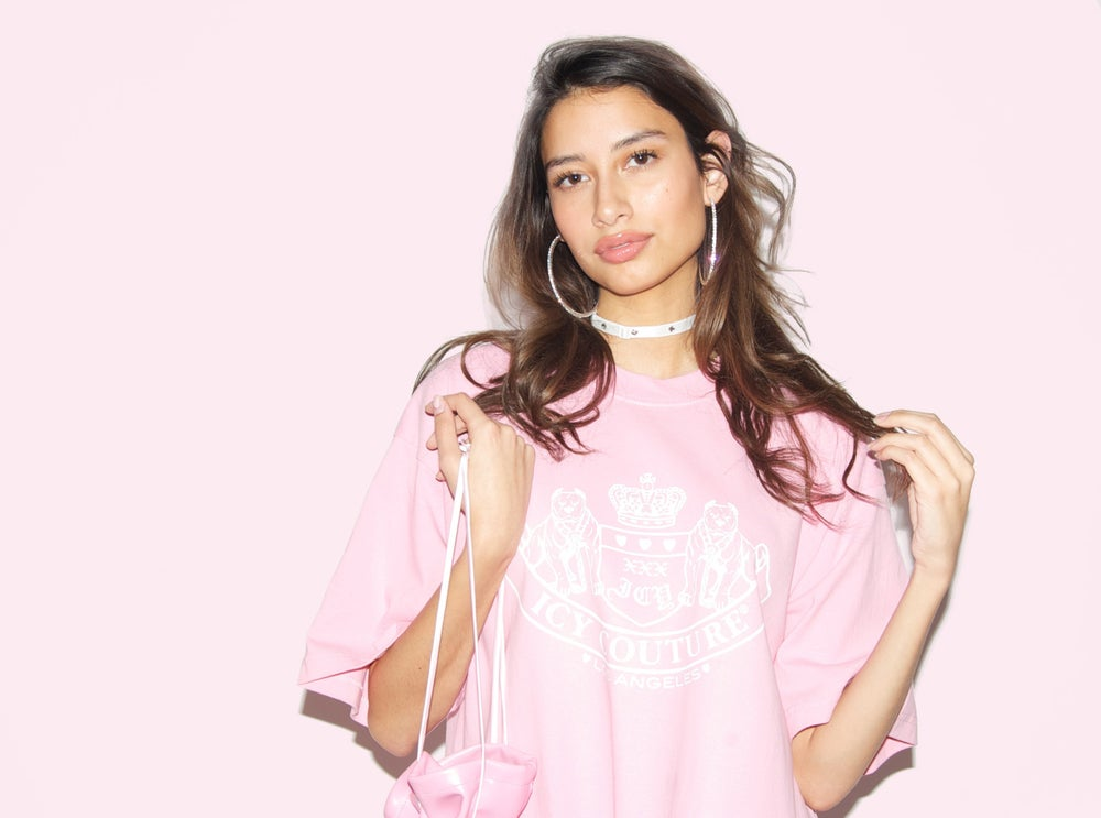 Image of ICY COUTURE pink t-shirt