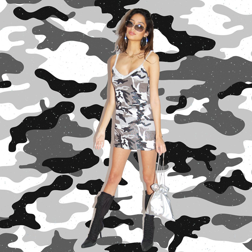Image of Camo sparkle dress