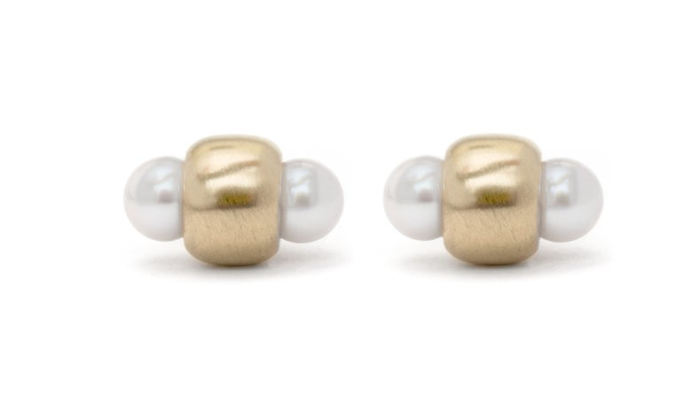 Image of Double window pearl studs