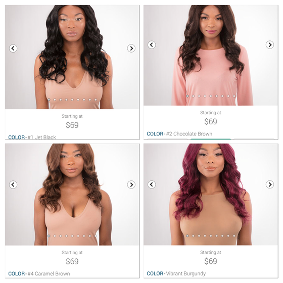 """Image of Pre colored bundles 10""""-26"""" starting at"""