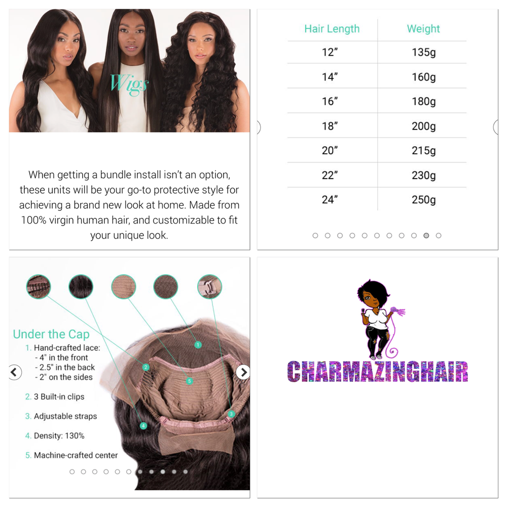 """Image of Lace Front and 360 Lace Wigs 12""""-24"""" starting at"""
