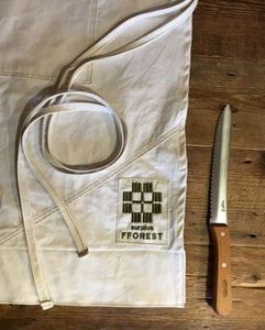 Image of fforest surplus apron & bread knife gift set