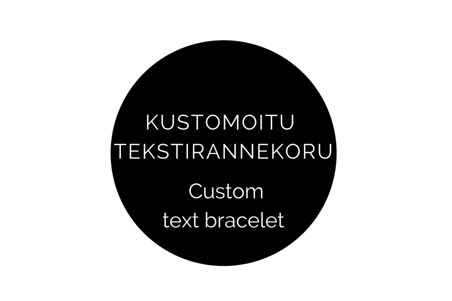 Image of 9 mm kustomoitu tekstirannekoru (1 rivi) / Custom text bracelet 9 mm (1 line)