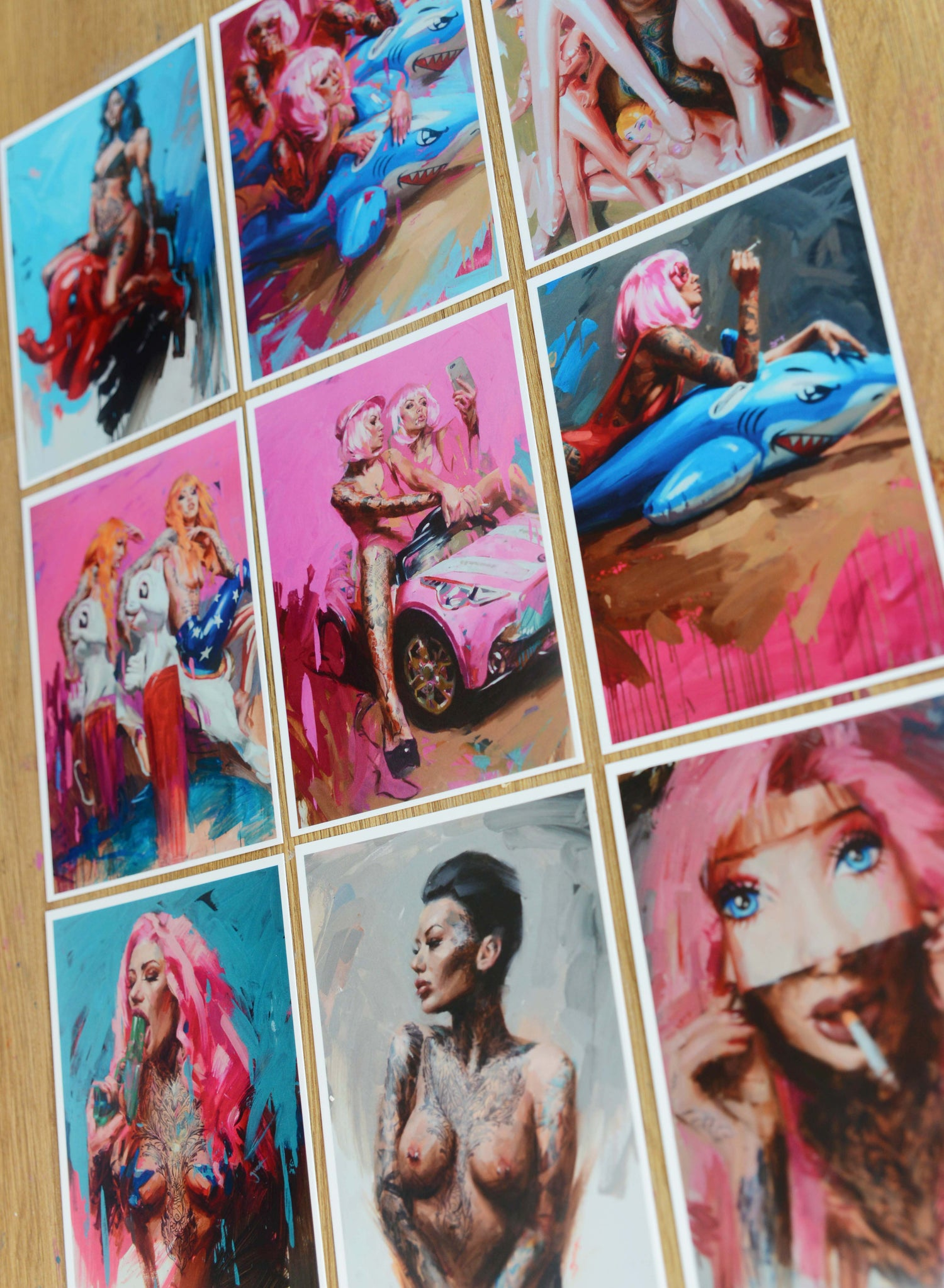 Image of 9x Art Cards (2017)