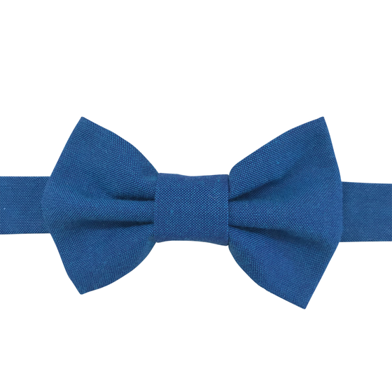 Image of cobalt chambray bow tie