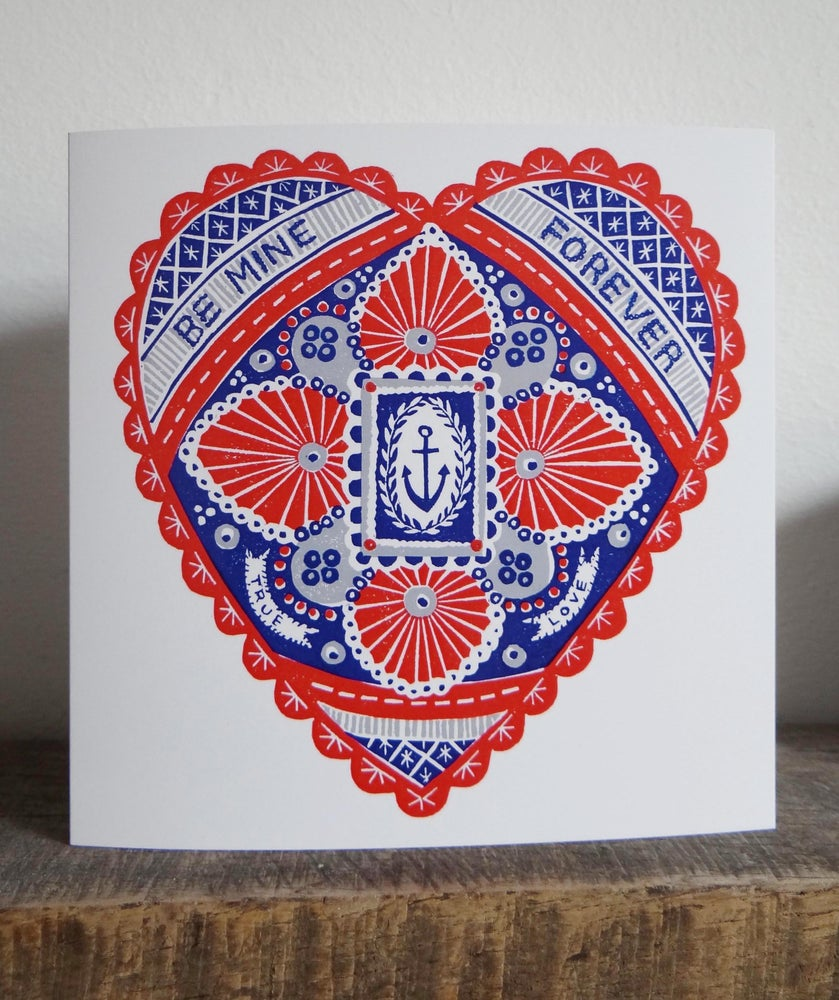 Image of Be Mine Forever - Greetings Card
