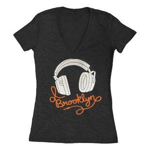 Image of Women's BK Headphones VNeck