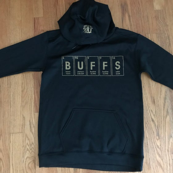 Image of periodic buffs. hoodie