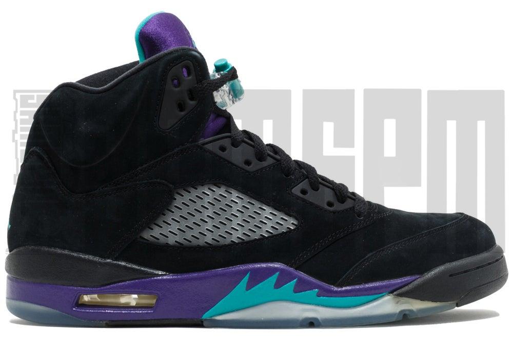 """Image of Nike AIR JORDAN 5 RETRO """"BLACK GRAPE"""""""