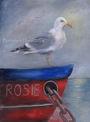 Image of SEAGULL ON FISHING BOAT, CHUNKY CANVAS WRAPS