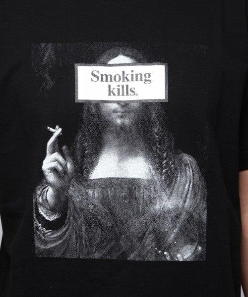 Image of Fxxking Rabbit FR2 - Smoking kill tee Ver. 13 Printed  (Black)