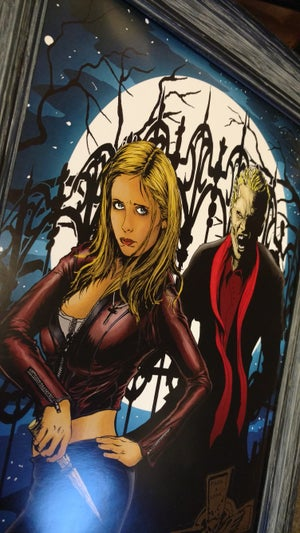 Image of Buffy and Spike limited art print