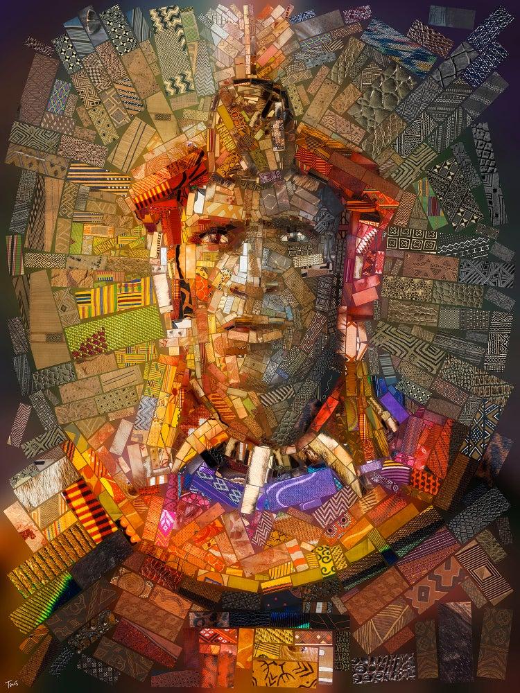 THE AFRICAN BRICKS Shaka Zulu (Limited edition fine art