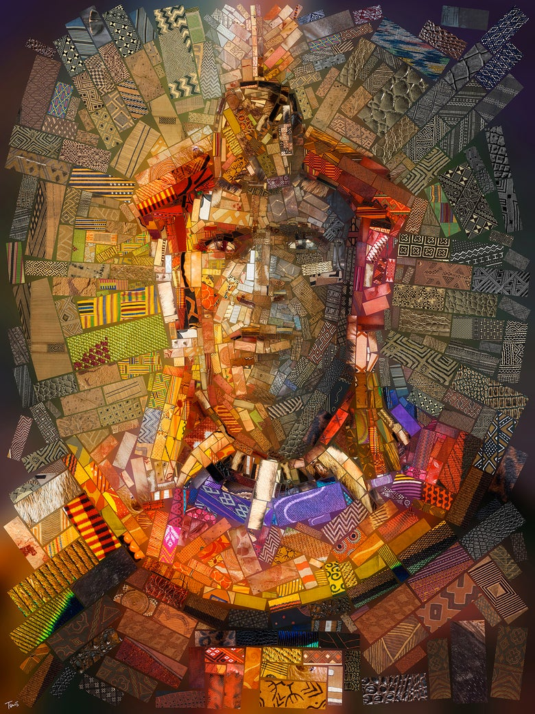 "Image of THE AFRICAN BRICKS ""Shaka Zulu"" (Limited edition fine art prints)"