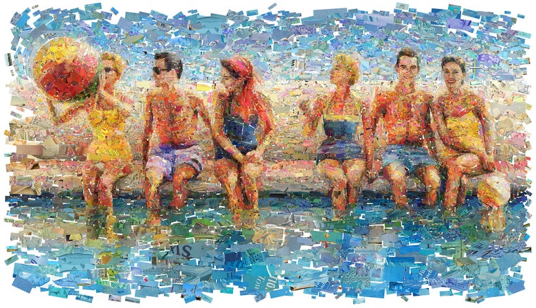 "Image of ENDLESS SUMMER ""By The Pool"" (Limited edition fine art prints)"