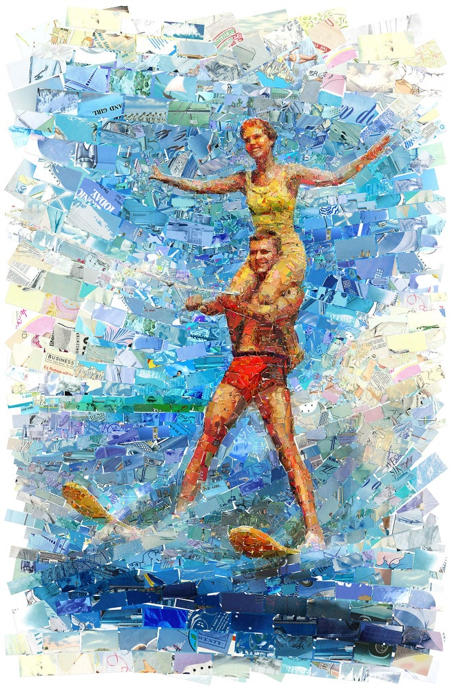 "Image of ENDLESS SUMMER ""Waterski Couple"" (Limited edition fine art prints)"