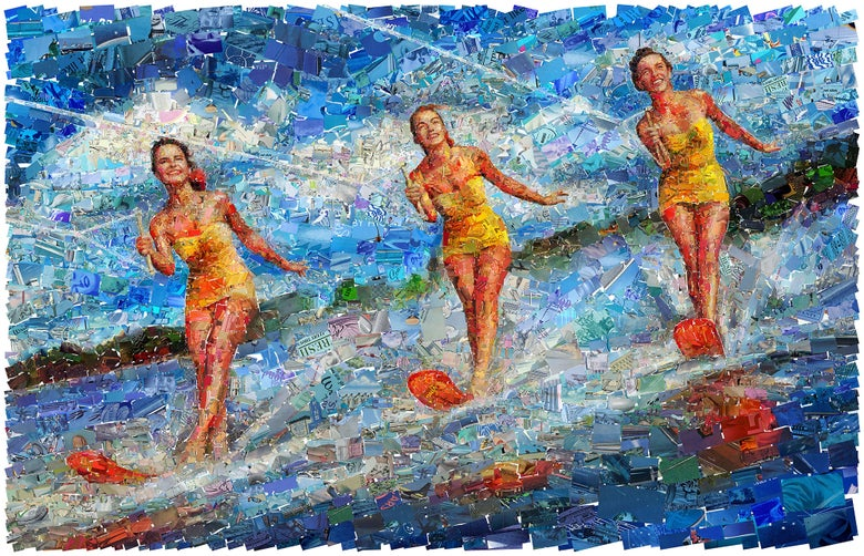 "Image of ENDLESS SUMMER ""Waterski"" (Limited edition fine art prints)"