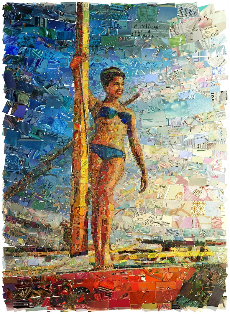 "Image of ENDLESS SUMMER ""Sailing Lady"" (Limited edition fine art prints)"