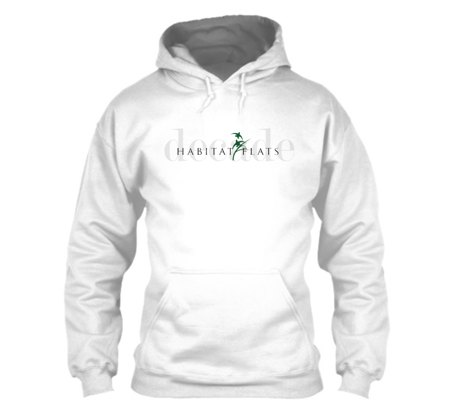 Image of Decade White Full Logo Hoodie