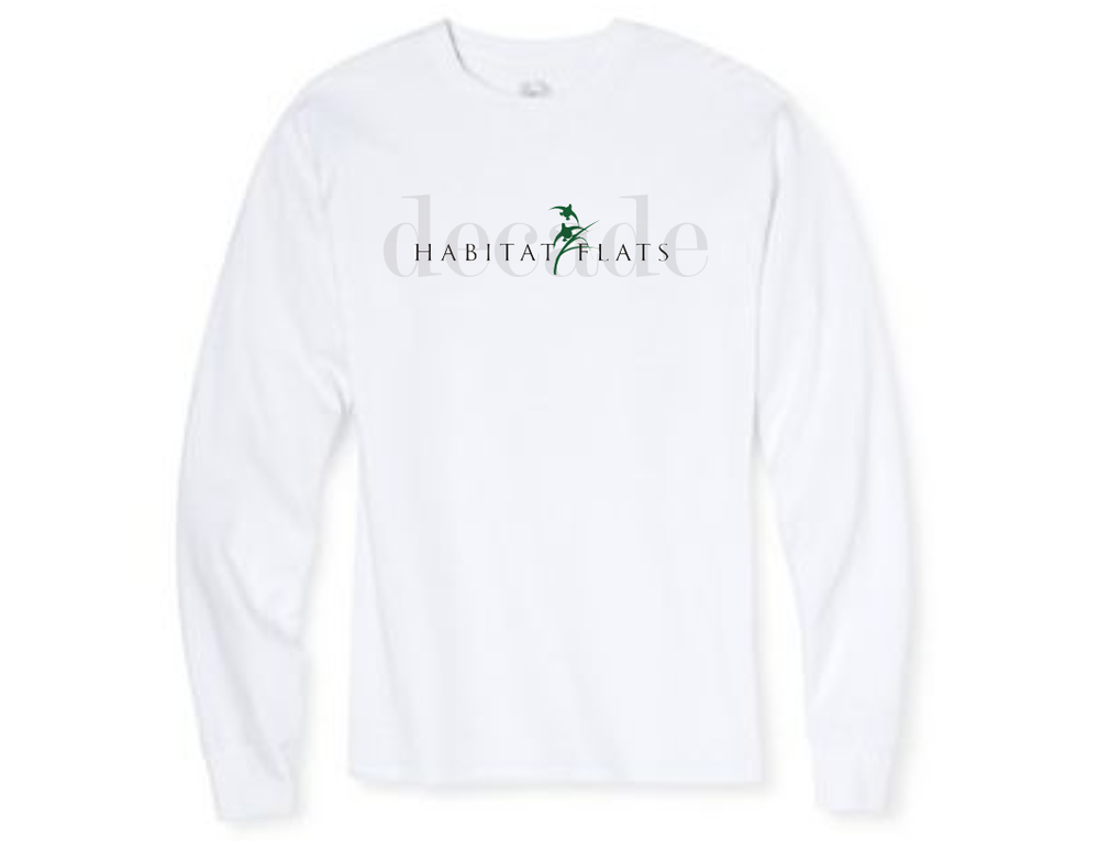 Image of Decade Long Sleeve White Tee