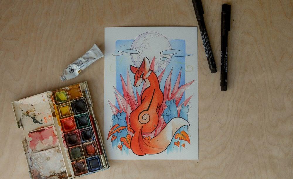 Image of Moon Fox - Art Print