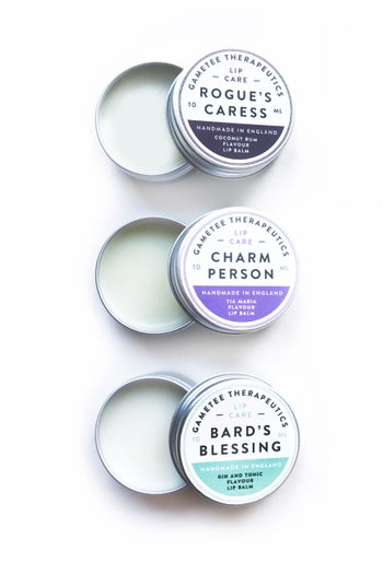 Gaming Lip Balms - Rogue's Caress, Bard's Blessing, Charm Person