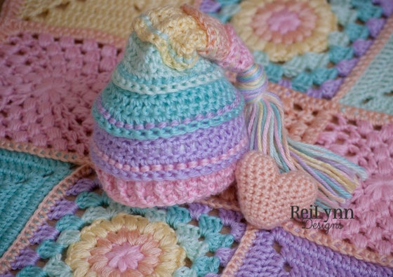 Image of Pastel Rainbow Mini Afghan