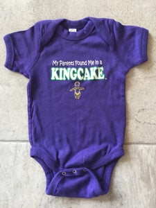 Image of My Parents Found me in a Kingcake Baby One Piece - Purple