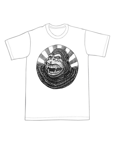 Image of Generic City-Destroying Ape T-shirt **FREE SHIPPING**