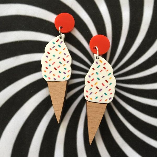 Image of Rainbow Sprinkle Icecream Earrings