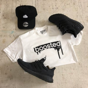 """Image of BOOSTED """"WHITE"""" HOODY OR TSHIRT"""